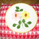 Blue Ridge Pottery Plate Yellow & Pink Flowers Marked