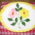 Blue Ridge Pottery Different Platter Yellow & Pink Flowers Nice Piece