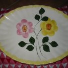 Blue Ridge Pottery Large Platter Yellow & Pink Flowers Nice Piece