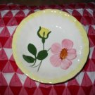 Blue Ridge Pottery Bowl Small Yellow & Pink Flowers Nice Piece