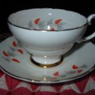 Cup and Saucer Crown Staffordshire England Bone China