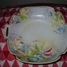 Nippon Lovely Floral Handled Bowl / Dish Hand Painted Very Pretty Piece Marked