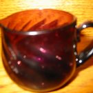 Adorable Amethyst Swirl Pitcher  / Creamer Hand Blown Oh So Cute