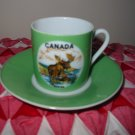 Cup and Saucer Souvenir For Canada Made In Japan Very Cute