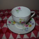 Mini Cup and Saucer Multi Flower Bell China Made in England Pretty Set