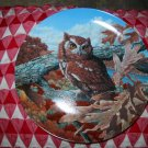 The Eastern Screech Owl by Jim Beaudoin Collector Plate 1990