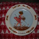 October by Sarah Seiwell Weber Collector Plate 1985