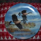 Golden Flight Canada Geese by Darrell Bush Collector Plate 1990