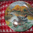 The Green Winged Teal by Bart Jerner Collector Plate 1987