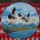 Winter Wings Snow Geese by Darrell Bush Collector Plate 1990