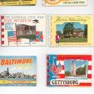 Vintage Souvenir Prints Booklets Lot Of 6