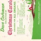 Vintage Song Book Dave Coleman Christmas Carols Organs  BEAUTY