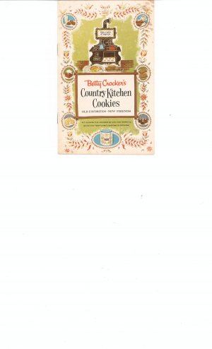 Vintage Betty Crockers Country Kitchen Cookies Pamphlet Very Nice