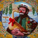 Christmas Feast Emmett Kelly Circus Collection Collector Plate Shipping Special
