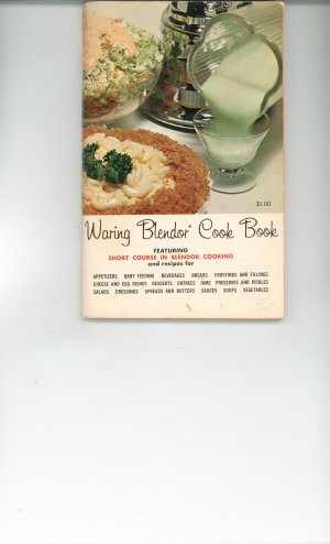 Waring Blender Cookbook Vintage Item