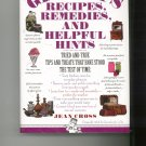 Grannys Recipes Remedies And Helpful Hints Book by Jean Cross