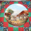 At The Village Fountain Collector Plate by Christian Luckel Shipping Special