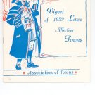 Digest Of 1959 Laws Affecting Towns Association of Towns New York State Vintage Item