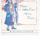 Digest Of 1966 Laws Affecting Towns Association of Towns New York State Vintage Item