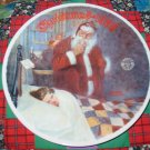 Deer Santy Claus Collector Plate Christmas 1986 Norman Rockwell
