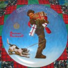 Wrapped Up In Christmas Collector Plate Christmas 1981 Norman Rockwell