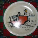Walking Through Merrie Englande Collector Plate by Norman Rockwell First in Rockwell On Tour Series