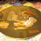 The Ship Builder Collector Plate by Norman Rockwell Fourth in Rockwell Heritage Series