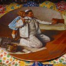 The Painter Collector Plate by Norman Rockwell Seventh in Rockwell Heritage Series