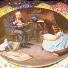 The Storyteller Collector Plate by Norman Rockwell Eighth in Rockwell Heritage Series