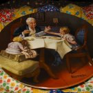 The Gourmet Collector Plate by Norman Rockwell Ninth in Rockwell Heritage Series