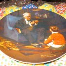 The Tycoon Collector Plate by Norman Rockwell Sixth in Rockwell Heritage Series
