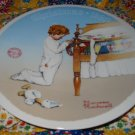 A Christmas Prayer Collector Plate Christmas 1990 Norman Rockwell Retired