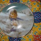Snow Bunny Collector Plate Third Issue In The Precious  Moments Collection 1980 Thornton Utz