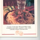 Creative Cooking Pasta Cookbook