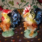Vintage Rooster / Chickens Salt and Pepper Shakers Very Nice