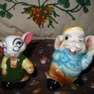 Vintage Dressed Mouse / Mice  Salt and Pepper Shakers Very Nice