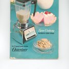 Osterizer Spin Cookery Blender Cook Book Cookbook Vintage Item