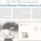 Preserving Wetlands & National Archives First Day Cover Stamp Lot Of 2 by Readers Digest