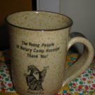 Wizard Of Clay Coffee Cup / Mug Hand Made Pottery Souvenir Honeoye New York