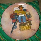 First In Rockwells Scotty Scottys Stowaway Large Collector Plate by Rockwell Box & Certificate