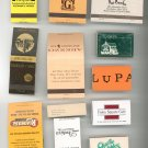 Lot Of 12 Assorted Match Book Matches Mostly New York Nice