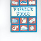 Freezing Foods Cookbook Guide by Rochester Gas & Electric Company Regional NY