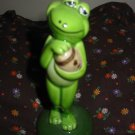 Frog Holding Football Figurine Very Cute