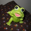 Frog Happy Waving Figurine Very Cute Marked Norcrest