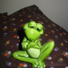 Frog Arms Crossed Knee Up Figurine Very Cute Marked Norcrest K500