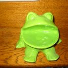 Frog Soap Dish / Holder With Tooth Brush Holder How Cute