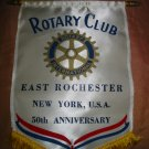Souvenir Rotary Club 50 th Anniversary East Rochester New York Banner Very Nice Item