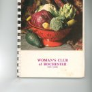 Recipes From Our Kitchen to Yours Cookbook Regional Rochester New York Womans Club