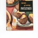 250 Ways Of Serving Potatoes Cookbook Vintage Item