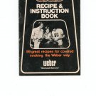 Recipe & Instruction Book Cookbook by Weber